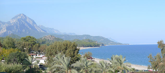 view from Hotel of Mountains and Sea